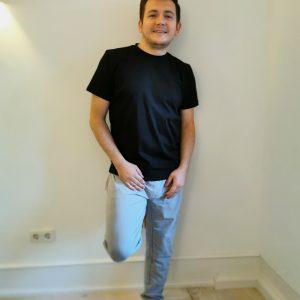 Biyoga T-Shirt aus Biobaumwolle für Männer